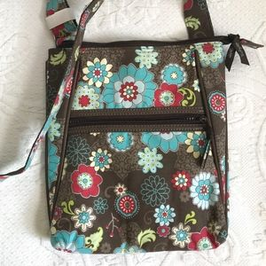 floral cross body bag . NWOT . thirty-one